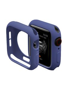 Ultra Thin Soft TPU Silicone Protective Shockproof Bumper Case Cover For 42mm Apple iWatch Series 1/2/3 - Navy Blue