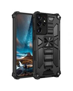 Armor Ultra Protective Case With Kickstand For Samsung Galaxy S21 Ultra 5G - Black