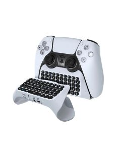 Wireless Keyboard Mini Control Chatpad + Built-in Speaker & 3.5MM Audio Jack For Sony PS5 Controller