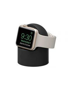 Charger Stand Mount Silicone Dock Holder For Apple iWatch Series 1/2/3/4/5/SE/6 - Black