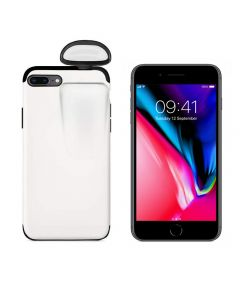Unified Protection Silicone Gel Rubber 2 in 1 AirPods Phone Cover Case For iPhone 7+ Plus/8+Plus (AirPods1/2 Only)-White
