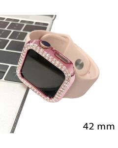 Crystal Diamond Design Bumper Case Body Protection Cover Watch Shell For Apple iWatch 42mm Series 1 / 2 / 3 - Black