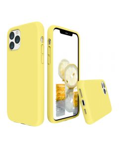 Liquid Gel Silicone Rubber Protective Case Cover For Apple iPhone 11 Pro 5.8'' - Yellow