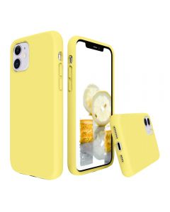 Liquid Gel Silicone Rubber Protective Case Cover For Apple iPhone 11 6.1'' - Yellow