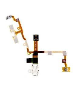 Iphone 3Gs Earphone Jack Power Volume Switch Flex Cable - White