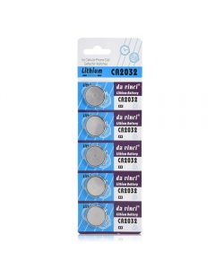 Replacement Lithium CR2032 3V Button Cell Coin Battery For Watch/Toys/Remote/Electronics - 5 Piece's