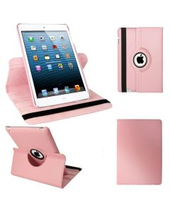 """Pink iPad mini 1/ 2/ 3 360° Rotating Case / With Built In Stand / 7.9"""" iPad Mini Tablet / Rotates & Stands On Two Sides / Pu Leather"""