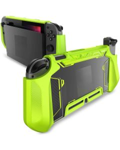 TPU Grip Protective Dockable Cover Case Blade Series For Nintendo Switch Console And Joy-Con Controller - Green