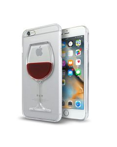 3D Liquid Red Wine Bottle Flow Phone Cover Case for iPhone 6/6S Plus