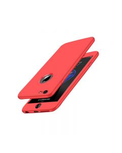 Luxury Soft TPU 360 Full Cover Cases For iPhone 6 Plus / 6S Plus - Red