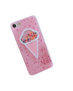 3D Dynamic Pink Ice Cream Phone Cover Case for iPhone 7/8