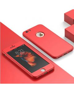 Luxury Soft TPU 360 Full Cover Cases For iPhone 7/8 - Red
