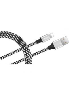 8-Pin Braided Lightning Cable for iOS 1M - Silver
