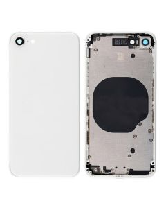 Replacement Back Housing Cover Without Parts Compatible With Apple iPhone 8 - Silver