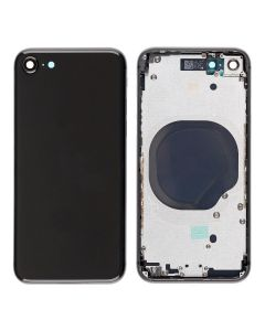 Replacement Back Housing Cover Without Parts Compatible With Apple iPhone 8 - Space Grey / Black
