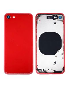 Replacement Back Housing Cover Without Parts Compatible With Apple iPhone 8 - Red