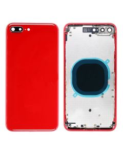 Replacement Back Housing Cover Without Parts Compatible With Apple iPhone 8 Plus - Red