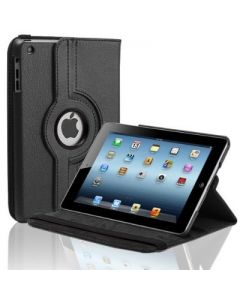 "Black iPad mini 1/ 2/ 3 360° Rotating Case / With Built In Stand / 7.9"" Ipad Mini Tablet / Rotates & Stands On Two Sides / Pu Leather"