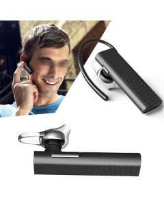 DF7 Bluetooth 4.1 Smart Touch Stereo Handsfree Earphone Earpiece Business Sports Headset 1 Ear With Microphone - Black