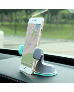 Mobile Phone Holder Universal Air Vent With Dashboard Windshield 2 in 1 Car Holders Stand - Grey