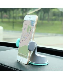 Mobile Phone Holder Universal Air Vent With Dashboard Windshield 2 in 1 Car Holders Stand - Black