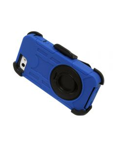 Rugged Shockproof Defender Armor Case with Rotating Belt Clip / Kickstand for iPhone 6 - Blue