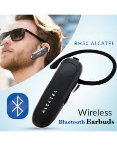Alcatel One Touch BH50 Wireless Bluetooth Headphone Voice Phone Call Handsfree Dual Mic Noise Cancelling Headset
