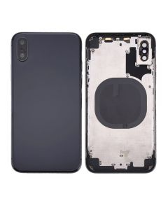 Replacement Back Housing Back Cover Without Parts Compatible With Apple iPhone X (10) - Black / Space Gray