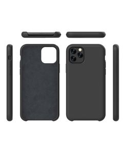 Liquid Gel Silicone Rubber Protective Case Cover For Apple iPhone 11 Pro Max 6.5'' - Black