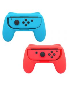 Nintendo Switch Joy-Con Controller Grips Wear Resistant Handle Kit - Red and Blue (2pcs)