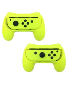 Nintendo Switch Joy-Con Controller Grips Wear Resistant Handle Kit - Yellow (2pcs)