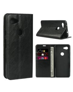 Stylish PU Leather Wallet Card Holder Flip Smart Phone Case Cover For Google Pixel 3a XL - Black
