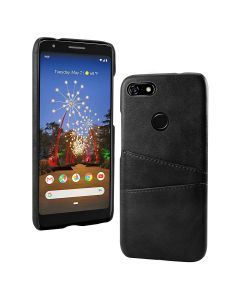 PU Leather Wallet Flip Stand Shockproof Full Body Smart Phone Case Cover With Card Holder For Google Pixel 3a XL - Black