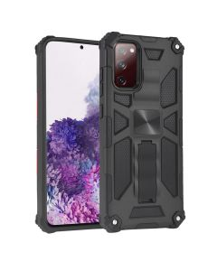 Heavy Duty Shockproof Hybrid Armor Magnetic Kickstand Full Body Hard Case Cover For Samsung Galaxy S20 FE - Black