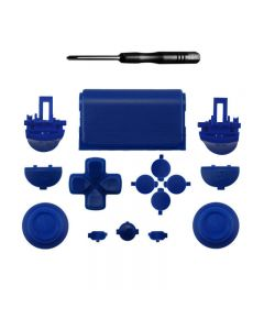 Set Button R2L2 Dpad Repair Kit for PS4 Pro Slim Controller Glossy JDM-040 - Blue