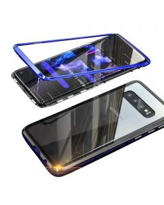 Stylish Luxury Magnetic Metal Case Compatible With Samsung Galaxy S10 Plus - Blue