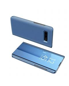 Smart Sleep Mirror Window View Bracket Magnetic Flip Protective Case Compatible With Samsung Galaxy S10 Plus - Blue
