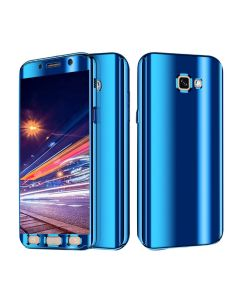 Luxurious Cool Ultra Slim Mirror Case 360 Full Body Protection Phone Case Cover For Samsung Galaxy A5 (2017) A520 - Blue