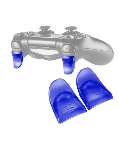 L2 R2 Buttons Extension Trigger Extenders Extend Button 1 Pair For PlayStation 4 / PS4 Slim / PS4 Pro DualShock 4 DS4 V1 V2 Controllers - Blue