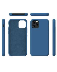 Liquid Gel Silicone Rubber Protective Case Cover For Apple iPhone 11 Pro Max 6.5'' - Blue