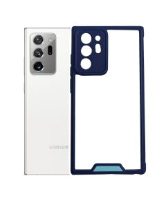 Shockproof Hybrid Clear Transparent Protective Hard Case Cover For Galaxy Note 20 Ultra - Blue
