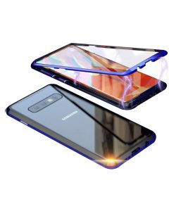 Stylish Luxury Magnetic Metal Case Compatible With Samsung Galaxy S10E - Blue