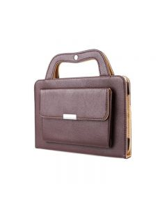 Stand Protect Shell Handbag PU Leather Wallet Portable Cover Case For iPad Mini 4 - Brown