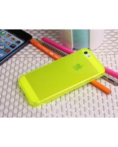 Clear Soft Jelly Gel TPU Back Case Cover Protective Skin for Apple iPhone 5C - Yellow