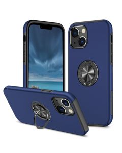 Shockproof 360 Magnetic Protective Case With Ring Holder For Apple iPhone 13 - Blue