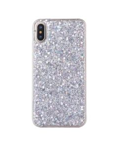 iPhone XR Sheer Crystal Twinkling Glass Crystal Fashionable Phone Case - Silver
