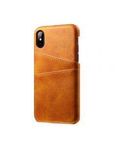 PU Leather Wallet Phone Case With Card Holder Smart Stylish Back Cover Case For Apple iPhone XS Max - Gold