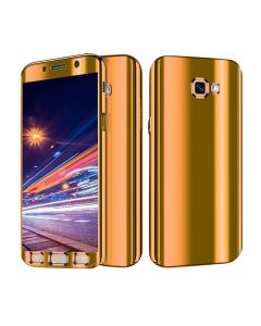 Luxurious Cool Ultra Slim Mirror Case 360 Full Body Protection Phone Case Cover For Samsung Galaxy A5 (2017) A520 - Gold