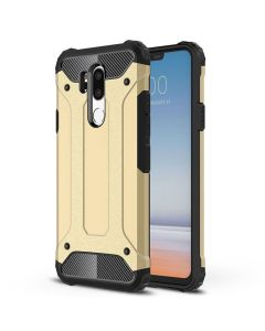 LG G7 King Kong Iron Armor 2 in 1 Anti Fall Cover Case - Gold