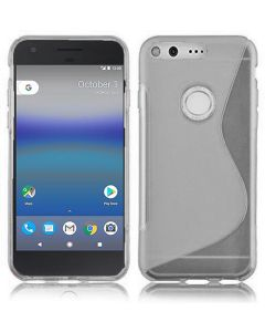 Google Pixel 5.0 Soft Gel S-line TPU Rubber Stylish Case - Clear